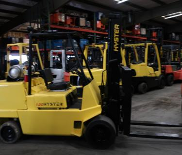 12,000lb Hyster Forklift Propane With Side Shifting Forks